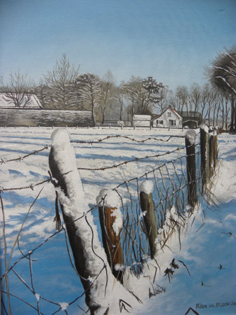 Akker in de winter
